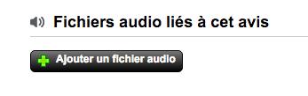 Extraits audio dans les avis